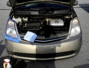 50/50 Shot of Headlight Restoration on Prius